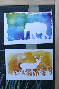 watercolor-silhouettes